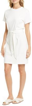 Vince Tie Waist Cotton T-Shirt Dress