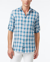 Michael Kors Men's Slim-Fit Alexander Plaid Roll-Tab Shirt