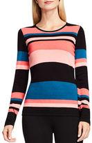 Vince Camuto Petite Multi-Toned Striped Sweater