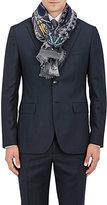 Colombo Men's Paisley Cashmere-Silk Scarf-BLUE