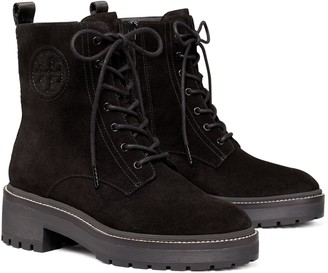 Tory Burch Miller Suede Lug Sole Boot