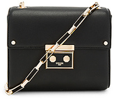 Luana Italy Marella Mini Shoulder Bag in Black.