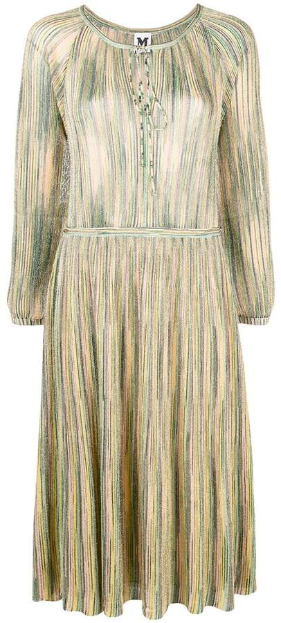 M Missoni metallic sheen mid-length dress