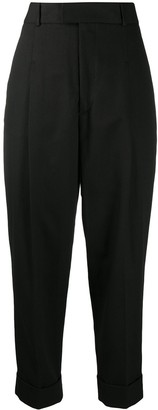 Vivienne Westwood Pleat Detail Cropped Tailored Trousers