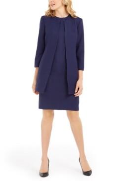 Le Suit Textured Dress Suit