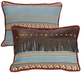 HIEND ACCENTS HiEnd Accents Ruidoso Fringe Oblong Striped Decorative Pillow