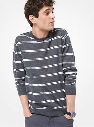 Michael Kors Striped Merino Wool Sweater