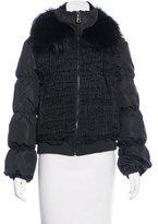 Prada Fur-Trimmed Puffer Jacket w/ Tags