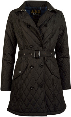Barbour Cornell Double-Breasted Diamond-Quilt Coat