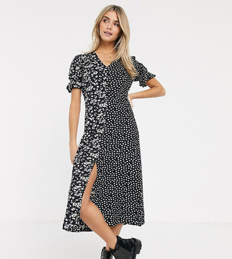 Wednesday's Girl maxi dress in mixed floral print