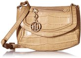 Tommy Hilfiger Jerry Croco Convertible Cross Body Bag