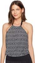 Amazon Brand - Coastal Blue Women's Control Swimwear Blouson Tankini Top