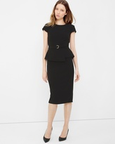 White House Black Market Peplum Sheath Dress
