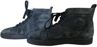 Christian Louboutin Louis Anthracite Suede Trainers