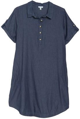 Susina Chambray Shirt Dress (Plus Size)