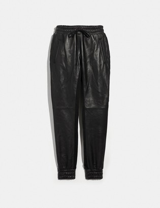 Coach Leather Jogger