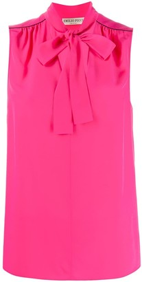 Emilio Pucci Pussy Bow Sleeveless Blouse