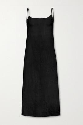 Anémone The Km Cupro Midi Dress - Black