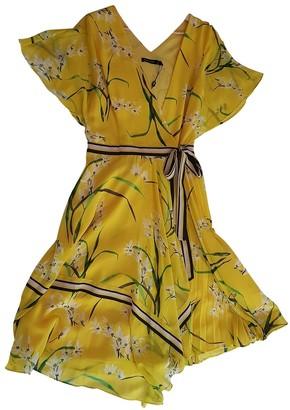 Karen Millen Yellow Silk Dress for Women