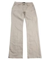 Lauren Ralph Lauren Womens Natural Seeded Denim Slimming Fit Straight Leg Jeans