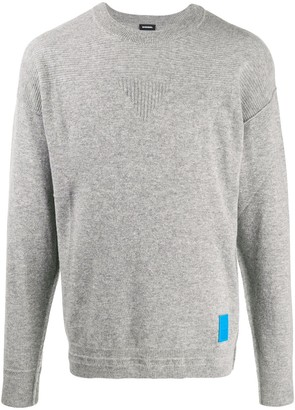 Diesel finely textured knit sweatshirt