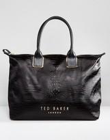 Ted Baker Embossed Weekend Luggage Bag