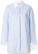 Alexandre Vauthier contrast collar striped shirt
