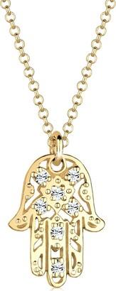 Elli Necklace Hamsa Hand with Swarovski Crystals in 925 Sterling Silver