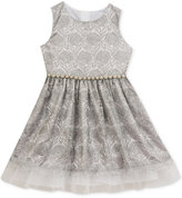 Rare Editions Mesh Embroidered Dress, Toddler Girls (2T-4T) & Little Girls (2-6X)