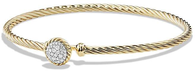 David Yurman Ch'telaine Bracelet with Diamonds in 18K Gold