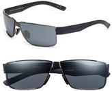 Porsche Design Men's 'P8509' 64Mm Aviator Sunglasses - Dark Gunmetal/ Blue