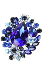 Crystal Art Designs Blue Rhinestone Brooch
