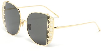Linda Farrow Butterfly wing metal frame sunglasses