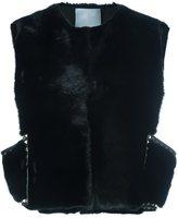 Valentino 'Rockstud' gilet - women - Lamb Skin/Mink Fur - 42
