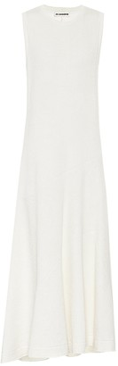 Jil Sander Asymmetric linen-blend maxi dress