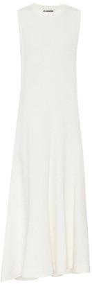 Jil Sander Asymmetric linen-blend maxi dress