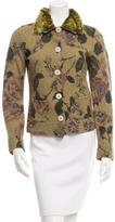 Etro Fur-Trimmed Wool Cardigan