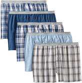 Fruit of the Loom Men's Big Exposed Waistband Woven Boxers(Pack of 5)