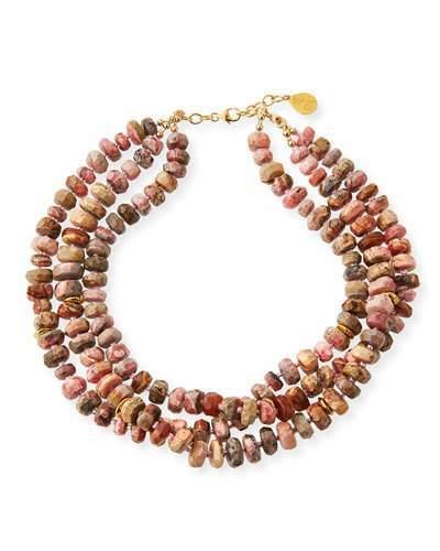 Devon Leigh 14k Multi-Strand Beaded Necklace