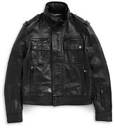 Diesel Black Gold Lybello Leather Moto Jacket