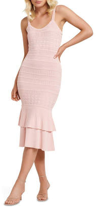 Forever New Bonnie Sheer Frill Knit Dress