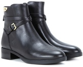 Tory Burch Sidney Embellished Leather Ankle Boots