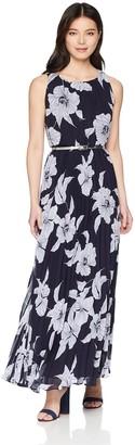 Jessica Howard JessicaHoward Women's Petite Sleeveless Pleated Maxi