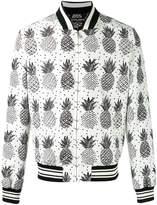 Dolce & Gabbana pineapple print bomber jacket