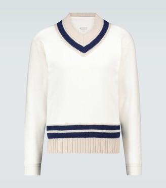Maison Margiela Brushed V-neck sweater