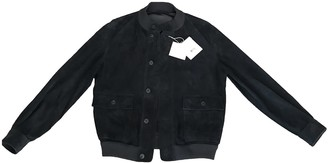 The Row Navy Suede Jackets