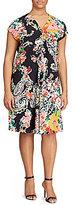 Lauren Ralph Lauren Plus Floral-Print Dress