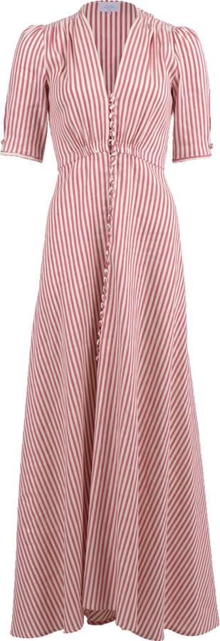 Luisa Beccaria Striped Button Down Dress