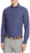Eleventy Pin Dot Regular Fit Button Down Shirt