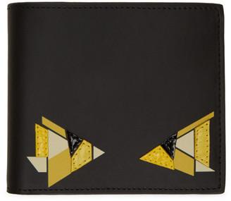 Fendi Black and Yellow Digital Bag Bugs Classic Wallet
